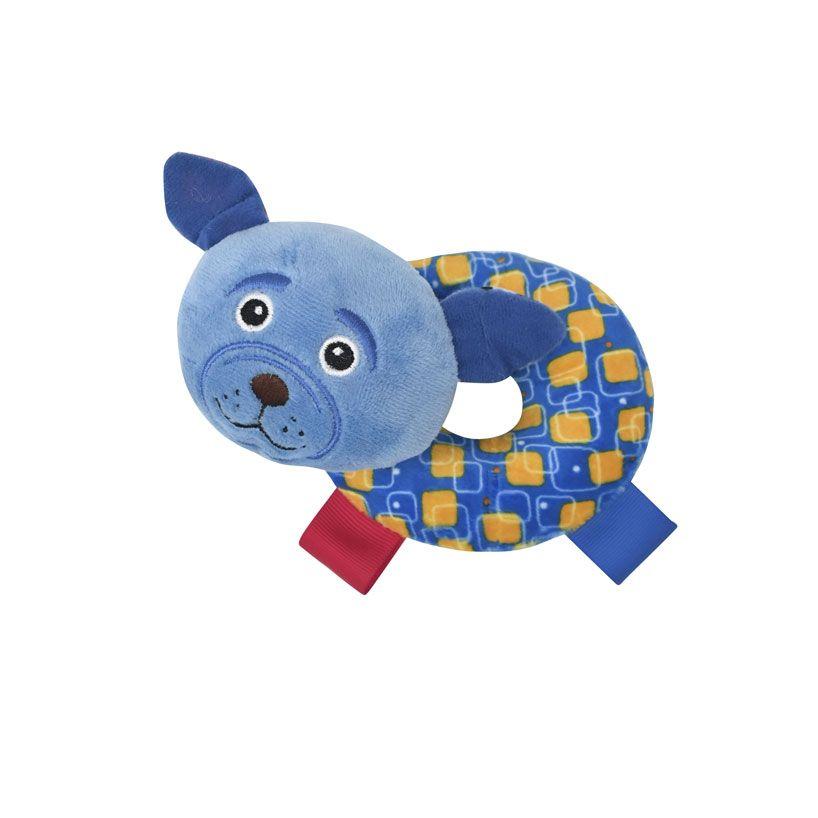 Zornaitoare din plus pentru bebelusi Lorelli Donut Blue Dog imagine hippoland.ro